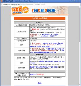 YouCanSpeak (ユーキャンスピーク)の文法の解説ページ